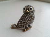 Owl ring swarovski crystal