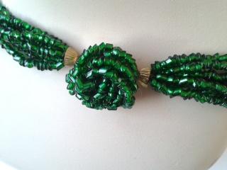 Art Deco emerald torsade
