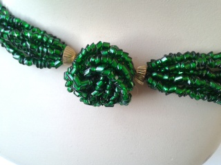 Art Deco emerald torsade