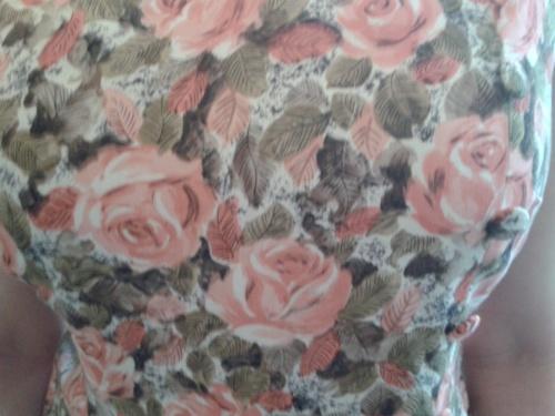 Vintage floral rose tea dress - 1950's