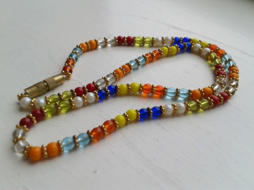 Art Deco Retro Rainbow necklace