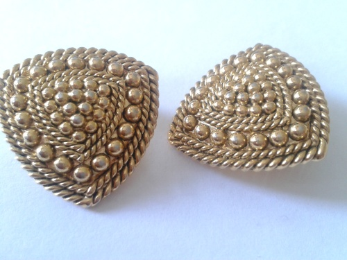 1950's vintage earrings - Retro Glamour