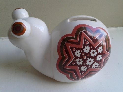 Carlton Ware Money Box Snail for Sale